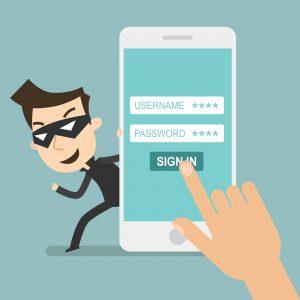 Online hacker steals information